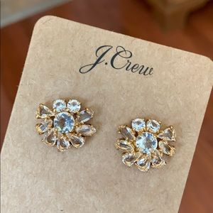 J Crew Crystal Stud Earrings